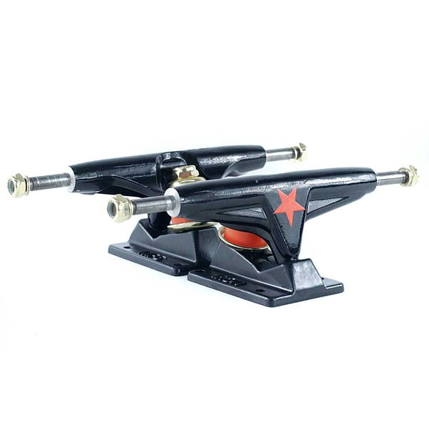 Iron Skateboard Trucks High Black 5.25