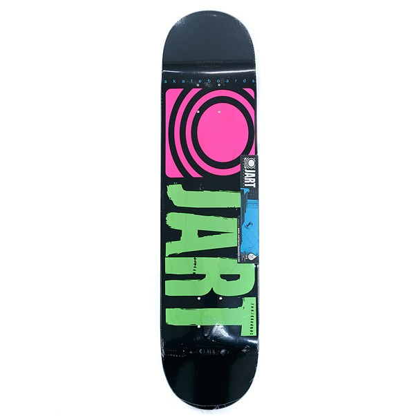 Jart Skateboards Logo Classic Skateboard Deck Black/Yellow 7.5""