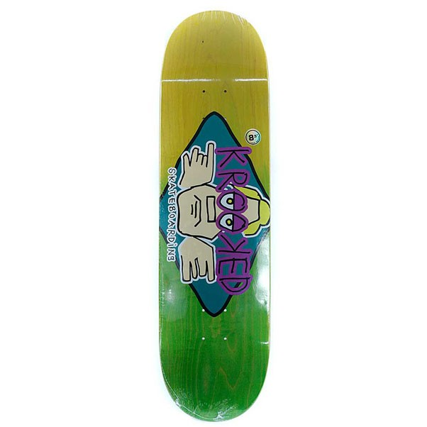 Krooked Skateboards Arketype Fade Skateboard Deck 8.5""