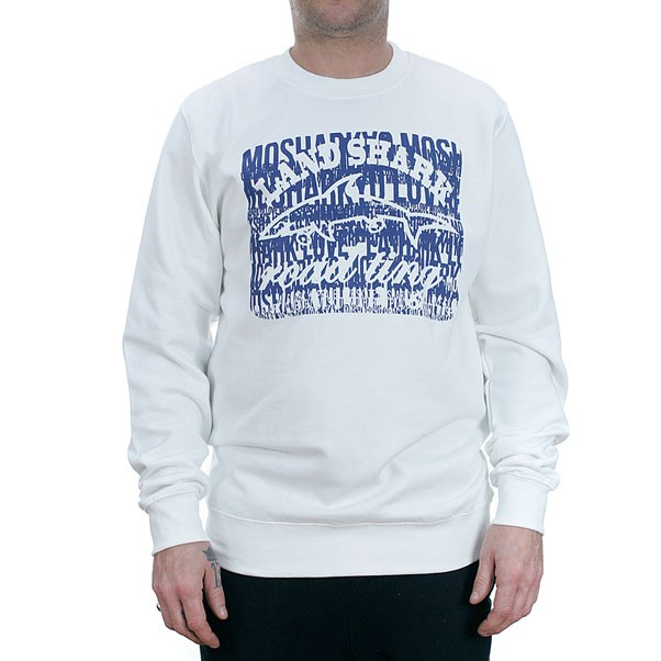 Land Shark Crew Mosharkyo Crewneck Sweatshirt White