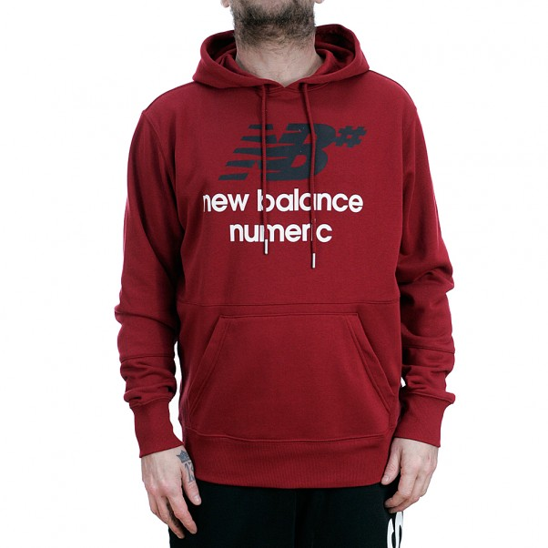 New Balance Numeric NB# Fleece Hooded Sweatshirt Scarlet Red