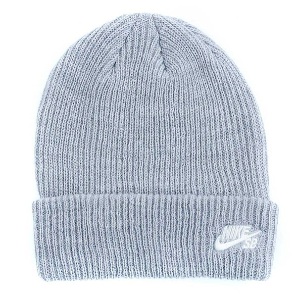 Nike Sb Fisherman Beanie Dark Grey Heather White