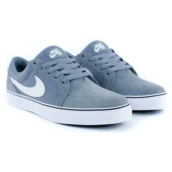 Nike Sb Satire II Cool Grey White Black Skate Shoes