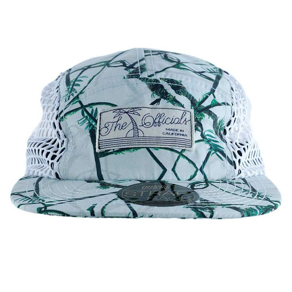 Official Real Tropical Mesh 5 Panel Cap White