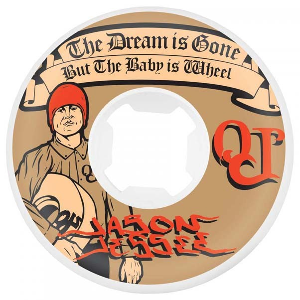 OJ Wheels Jesse Dream Baby EZ Edge Skateboard Wheels 101a White 55mm