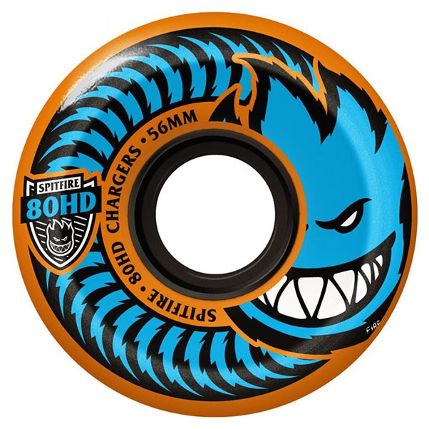 Spitfire Soft Charger Conical Skateboard Wheels 80HD Orange 54mm
