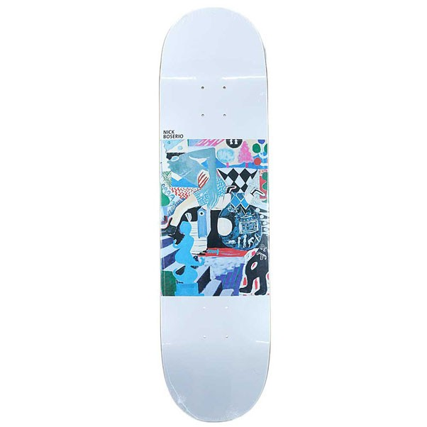Polar Skate Co Nick Boserio Running Skateboard Deck White 8.25""