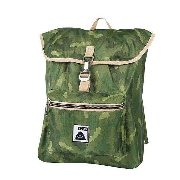 Poler Stuff Field Pack Backpack Bag Green Camo