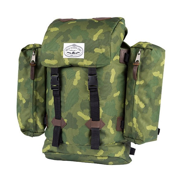 Poler Stuff Retro Rucksack Backpack Green Camo