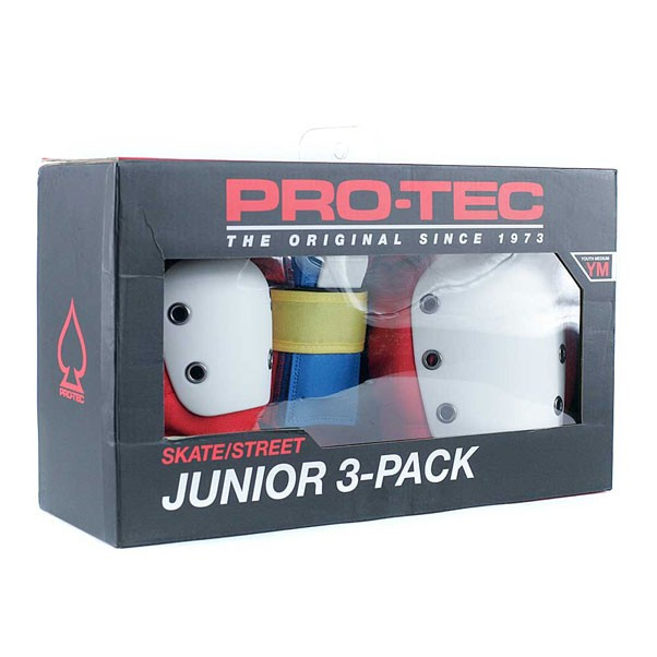 Pro Tec Pads Set Street Gear Retro 3 Pack Junior Youth