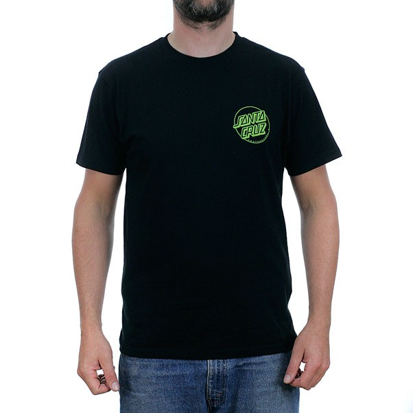 Santa Cruz Outline Dot T-Shirt Black
