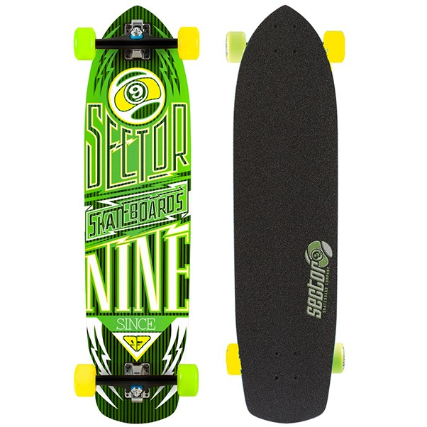 "Sector 9 Carbon Flight Longboard Factory Complete Yellow 36"" x 9"""