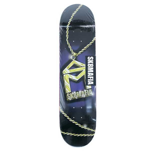 Sk8mafia Skateboards House Logo Chain Skateboard Deck Black 8.0""