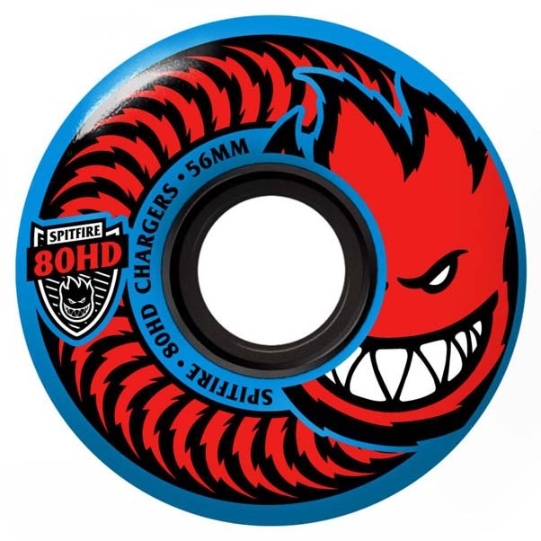 Spitfire Soft Charger Conical Skateboard Wheels 80HD Blue 56mm
