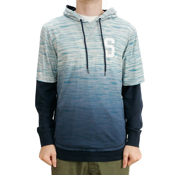 Staple Tehpra Hooded T-Shirt Blue
