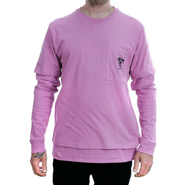 Stussy O'Dyed Double T-Shirt Lavender Pink