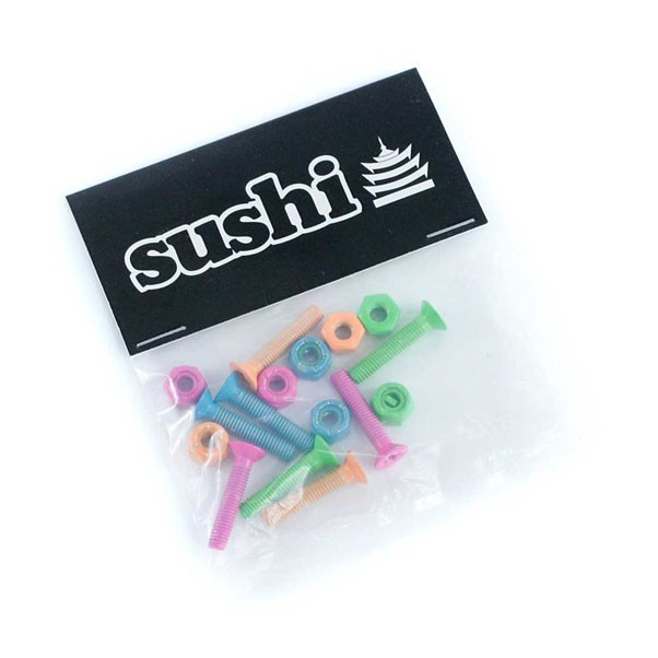 Sushi Coloured Skateboard Bolts Phillips Pink Green Orange Blue 1""