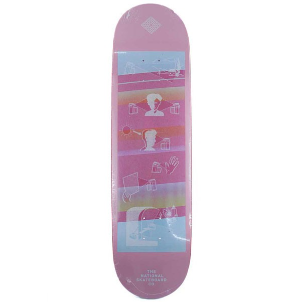 The National Skateboards Co Exposure Skateboard Deck Pink 8.375""