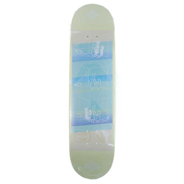 The National Skateboards Co Lighting Skateboard Deck Yellow 8""