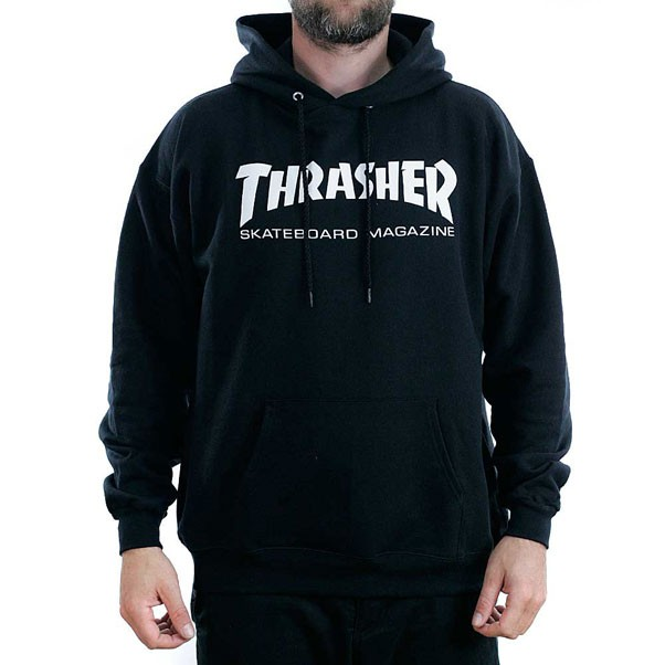 Thrasher Magazine Black Skate Mag Logo Hooded Sweatshirt