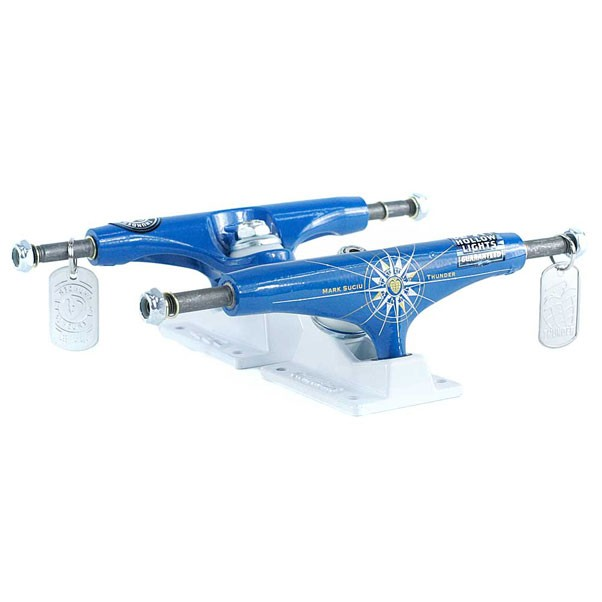 Thunder Hi 147 Hollow Light Suciu Colegiate Skateboard Trucks Blue White 147mm