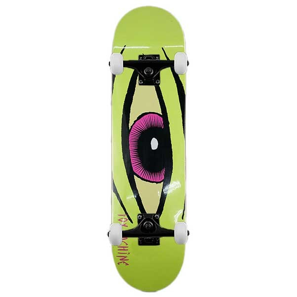 TOY MACHINE SECT EYE COMPLETE SKATE BOARD LIME