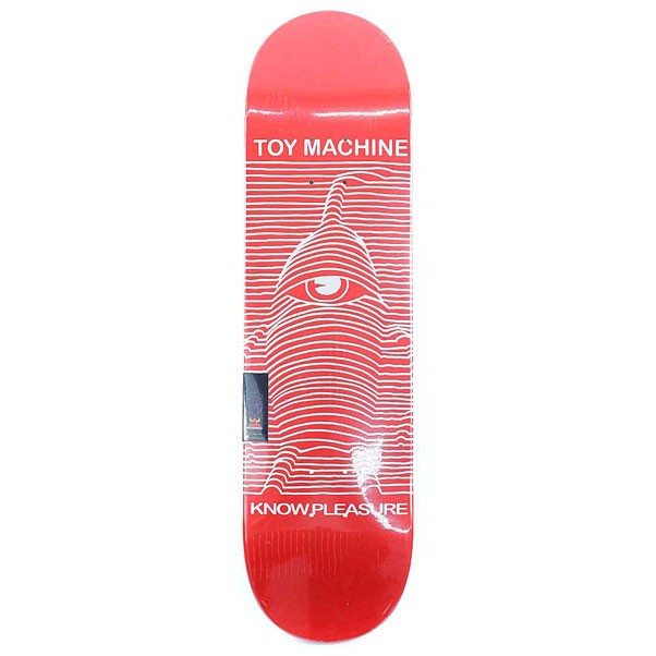 Toy Machine Skateboards Toy Division Skateboard Deck Red 8.25""
