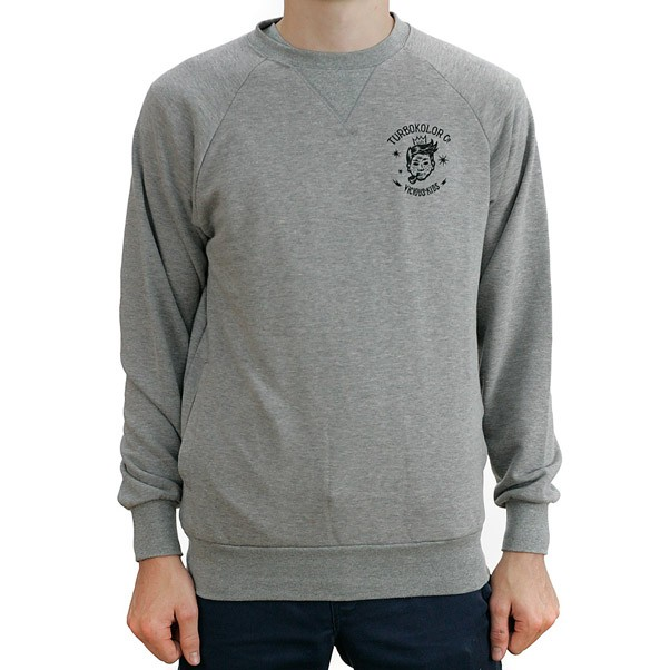 Turbo Kolor King Crewneck Sweatshirt Heather Grey