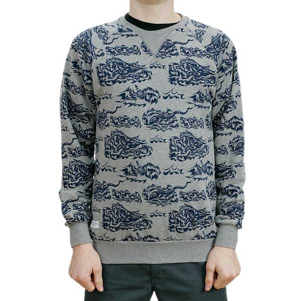 Turbo Kolor Marlin Print Crewneck Sweatshirt Grey