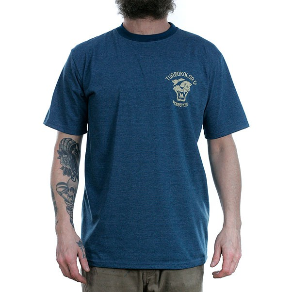 Turbo Kolor OG Tiger T-Shirt Navy Heather