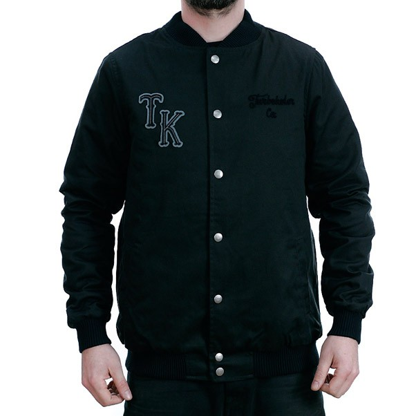 Turbo Kolor Varsity Quilted Jacket Black