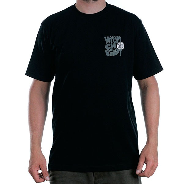 Turbo Kolor x Andy Jenkins No Comply Wrench Pilot T-Shirt Black