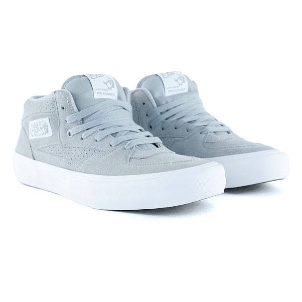 Vans Half Cab Pro Perfed Suede High Rise Grey Skate Shoes