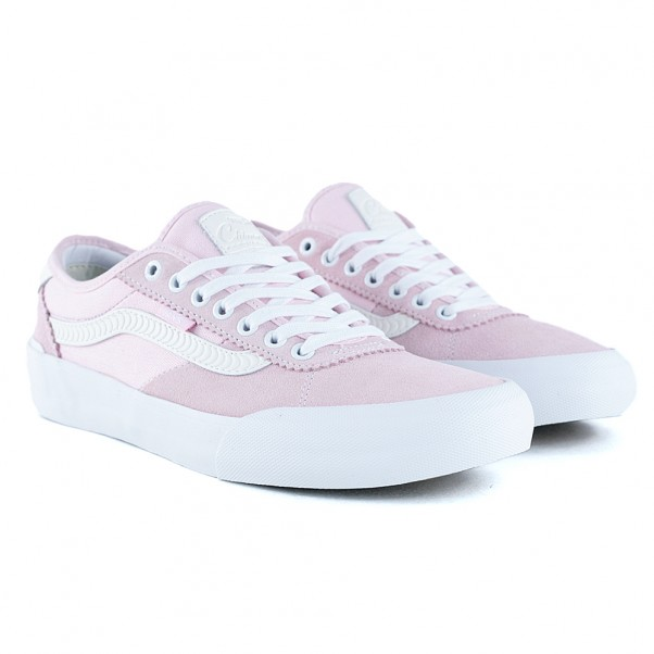 Vans x Spitfire Chima Pro 2 Pink Cream White Skate Shoes