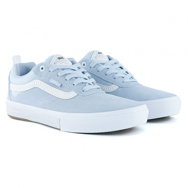 97a9fc6df8 Vans x Spitfire Kyle Walker Pro Baby Blue White Skate Shoes at Black ...