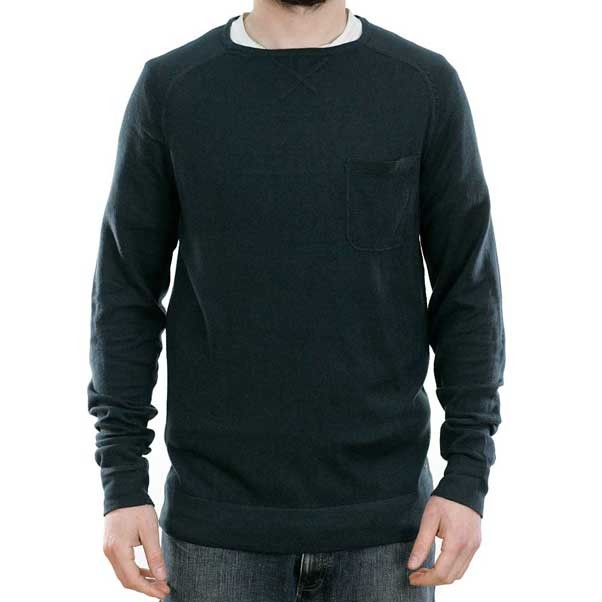 Volcom Stand Not Sweater Crewneck Sweatshirt Sulfur Black