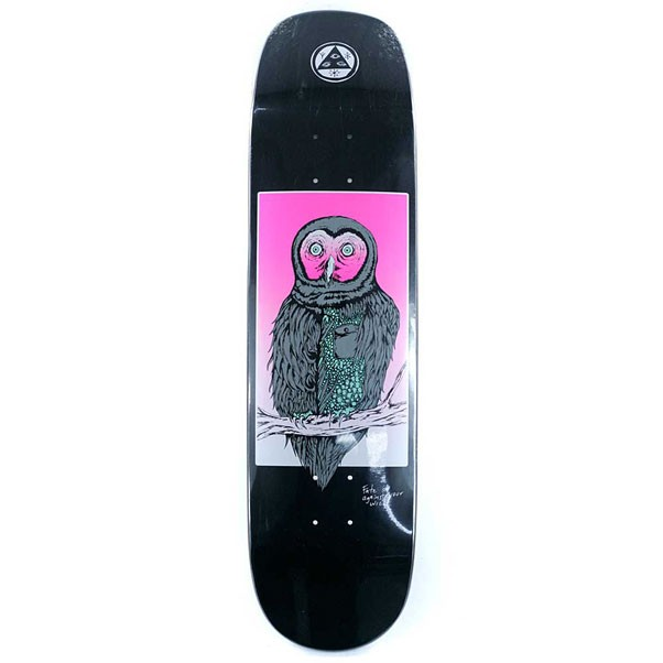 Welcome Skateboards Fate Owl on Pheonix Skateboard Deck Black 8""