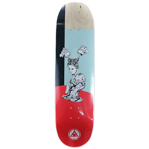Welcome Skateboards Hedo Rick on Moontrimmer Skateboard Deck Red 8.5""