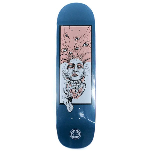 Welcome Skateboards Stoker on Big Bunyip Skateboard Deck Deep Blue 8.5""
