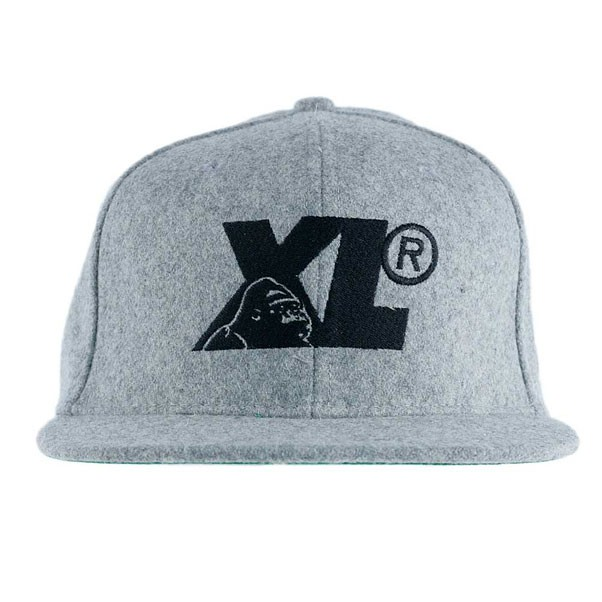 X-Large Clothing Gorilla Cameo Strapback Hat Heather Grey