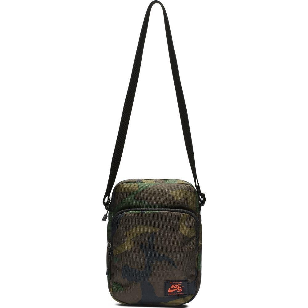 0f7f25346bf3 Nike Sb Heritage Summit Shoulder Bag Camo Iguana Black Team Orange at Black  Sheep