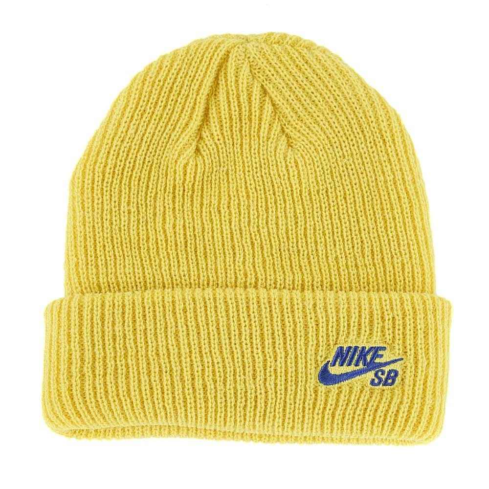 71390c6acc5 Nike Sb Fisherman Beanie Hat Yellow Ochre Blue Void at Black Sheep