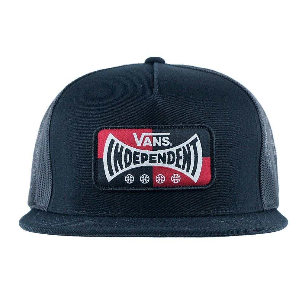 97d4627c764 Vans x Independent Trucks Trucker Snapback Black at Black Sheep Skateboard  Shop