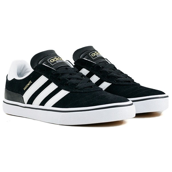 Adidas Skateboarding Busenitz Vulc Black Running White Black Skate Shoes