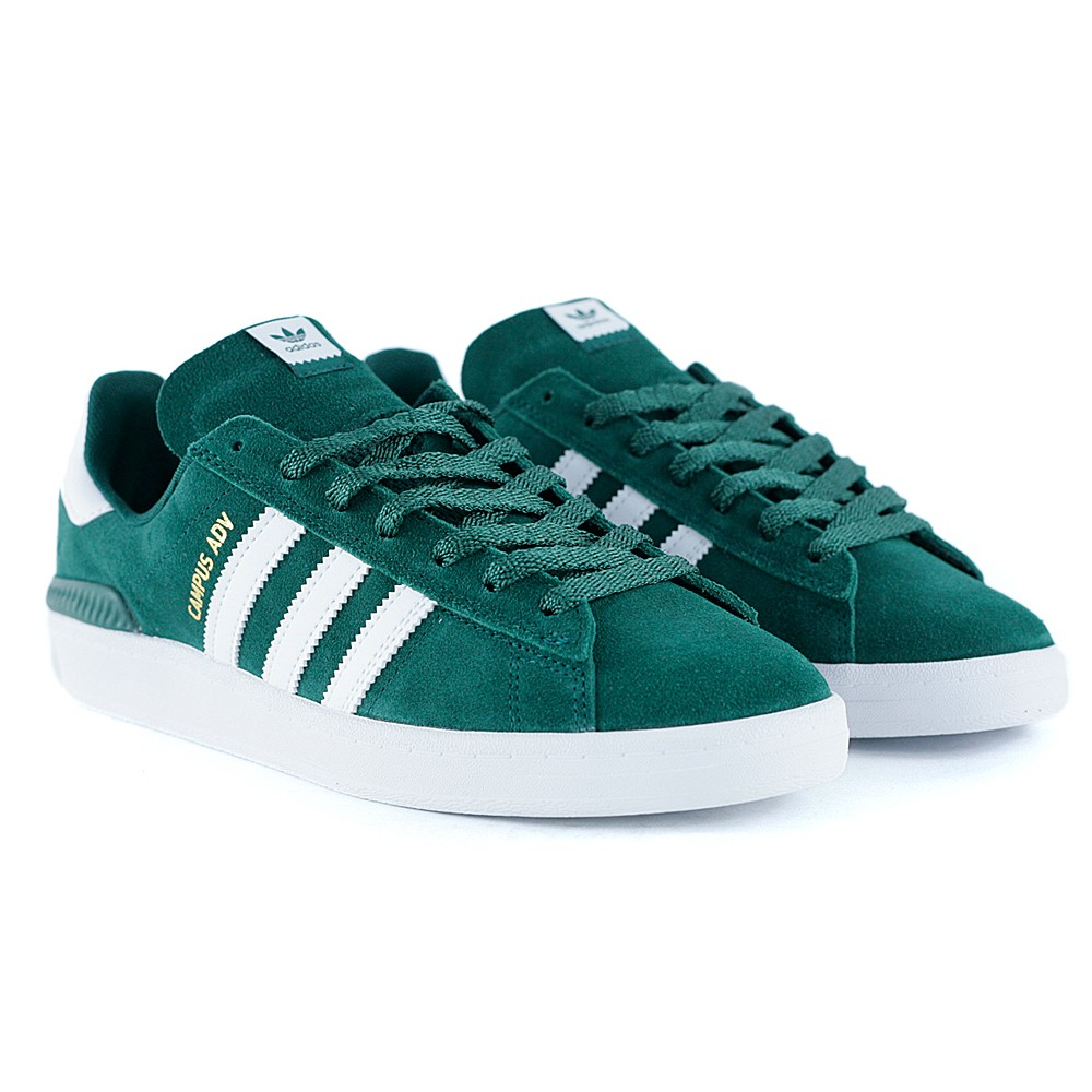 5ec813d4caa94b Adidas Skateboarding Campus ADV Collegiate Green Feather White Gold at Black  Sheep Skateboard Shop