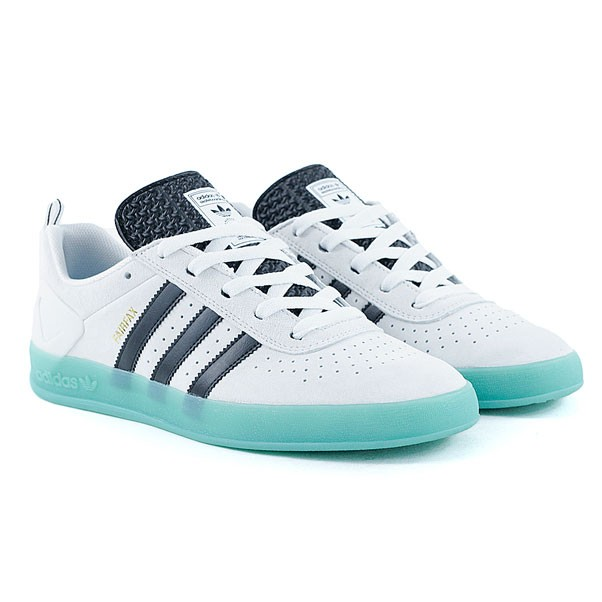 2711fcc8a6 Adidas Skateboarding Palace Pro Benny Fairfax White Black Gold Skate Shoes