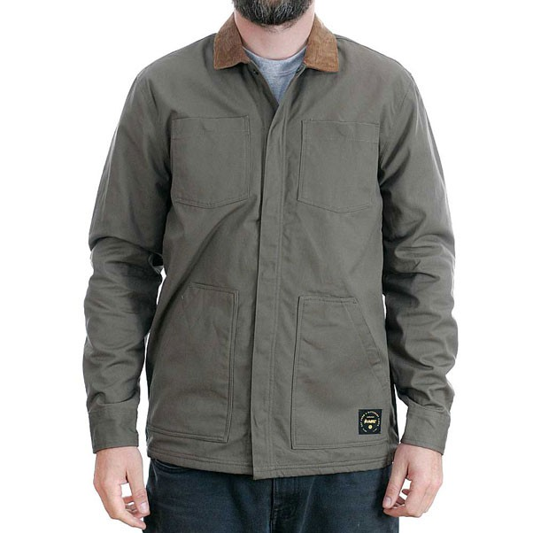 Altamont Reynolds Woven Long Sleeved Workshirt Army Green