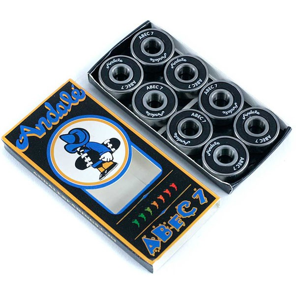 Andale Skateboard Bearings Abec 7 Black