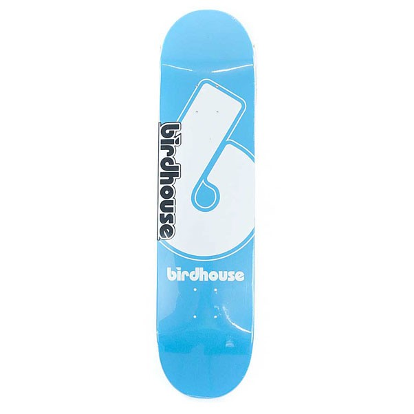 Birdhouse Skateboards Logo Deck Giant B Skateboard Deck Blue 7.75""