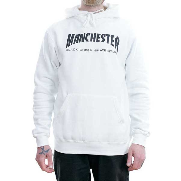 Black Sheep Manchester White Hooded Sweatshirt